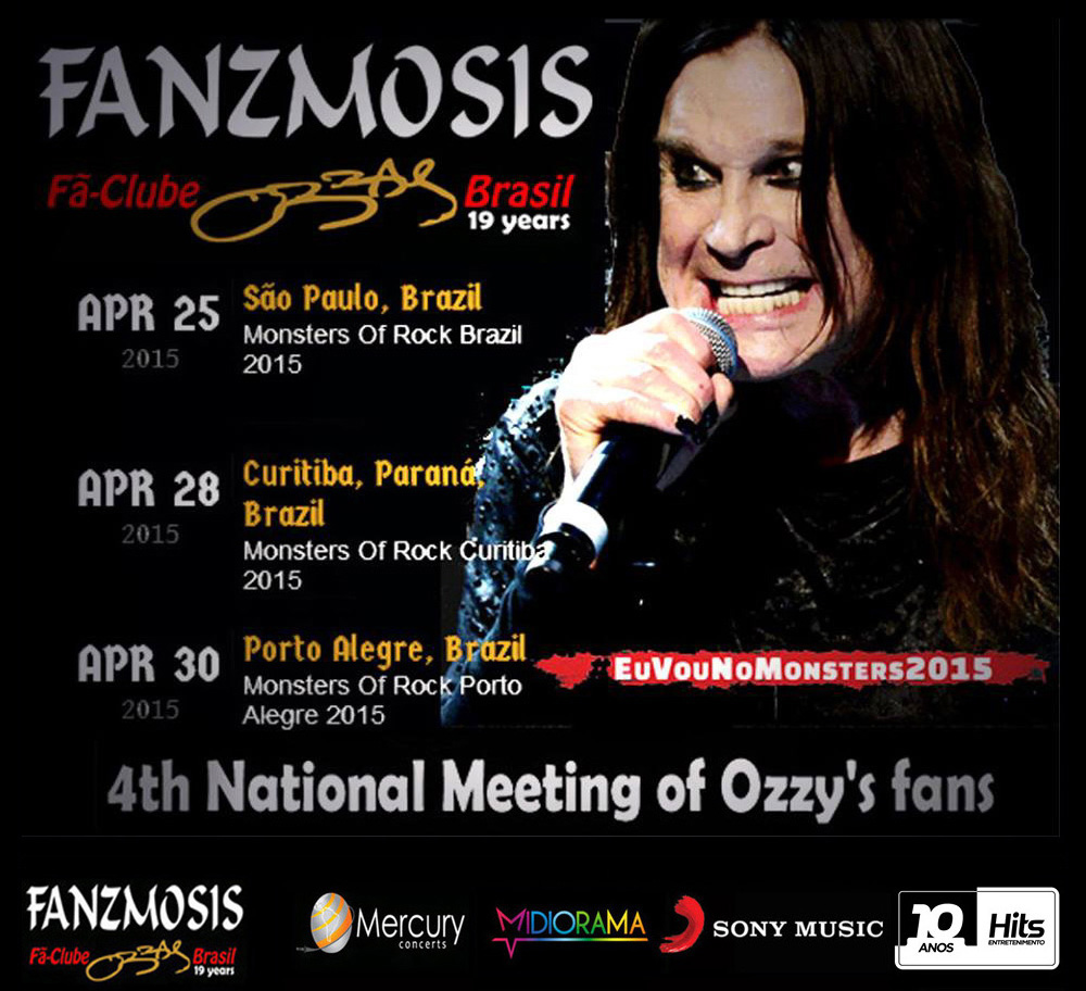 4� Encontro Nacional dos F�s de Ozzy Osbourne no Monsters of Rock em SP