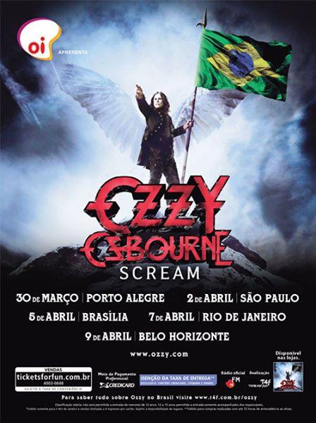 Pôster _ Ozzy Osbourne - Scream Brasil Tour 2011