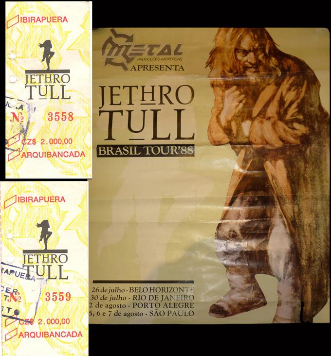 show de 20 anos do Jethro Tull no Brasil em 88