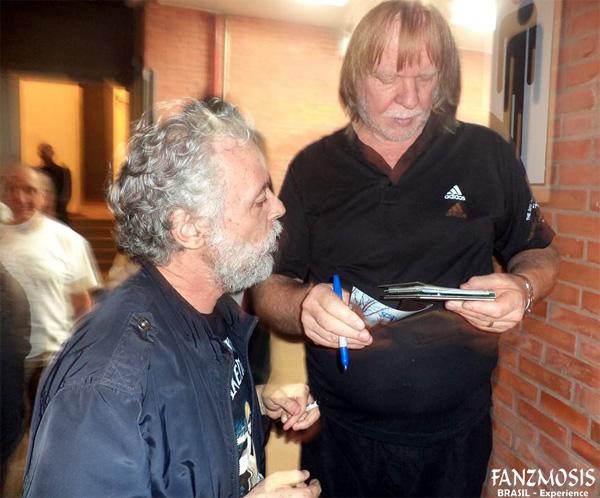 Foto: BACKSTAGE Auditório Araújo Vianna - Michel Fares Filho e Rick Wakeman