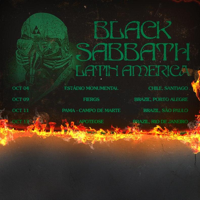 Imagem de divulgação : O Black Sabbath divulga a imagem com datas da passagem de sua nova turnê pela América Latina