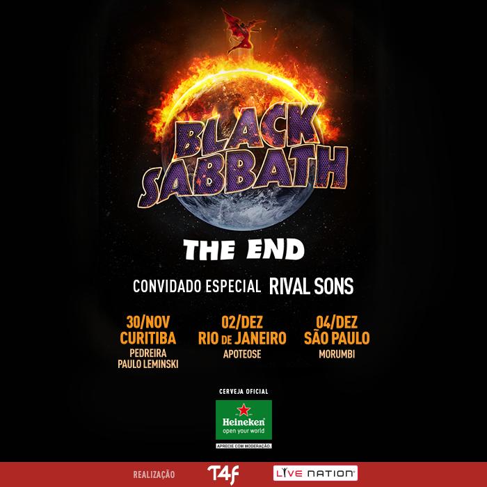 Imagem de divulgação Black Sabbath no Brasil 2016