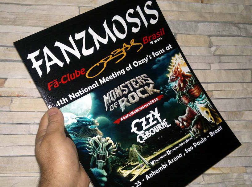 Flyer, limited edition, Ozzy at Monsters Of Rock in April - by Fanzmosis