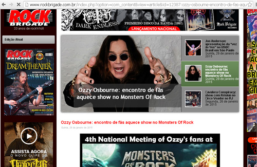 Encontro Nacional do Fanzmosis na Rock Brigade magazine